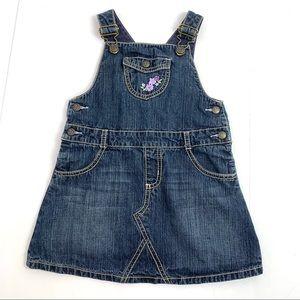 Girls Gymboree Denim Overall Skirt Dress 4T